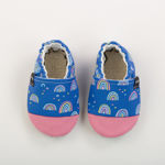 Picture of Slippers - rainbows blue