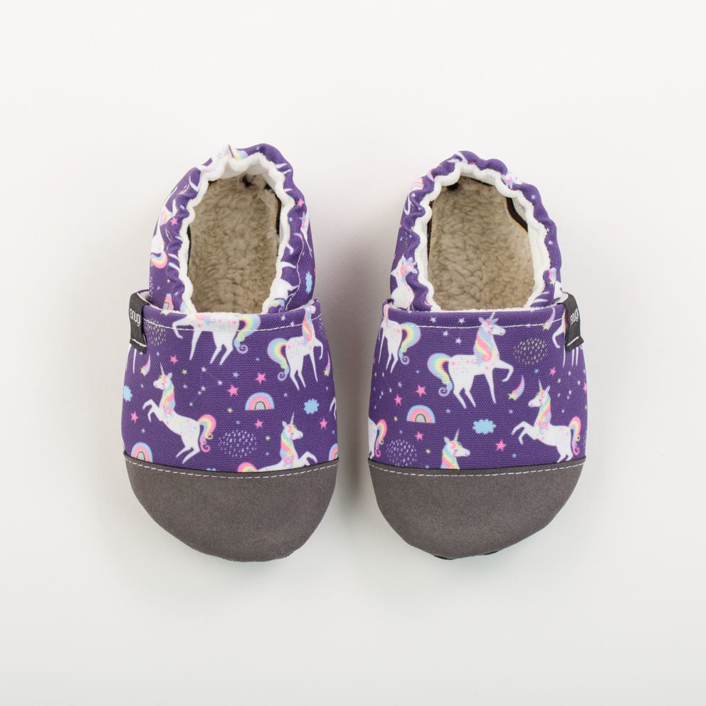Picture of Slippers - purple unicorn