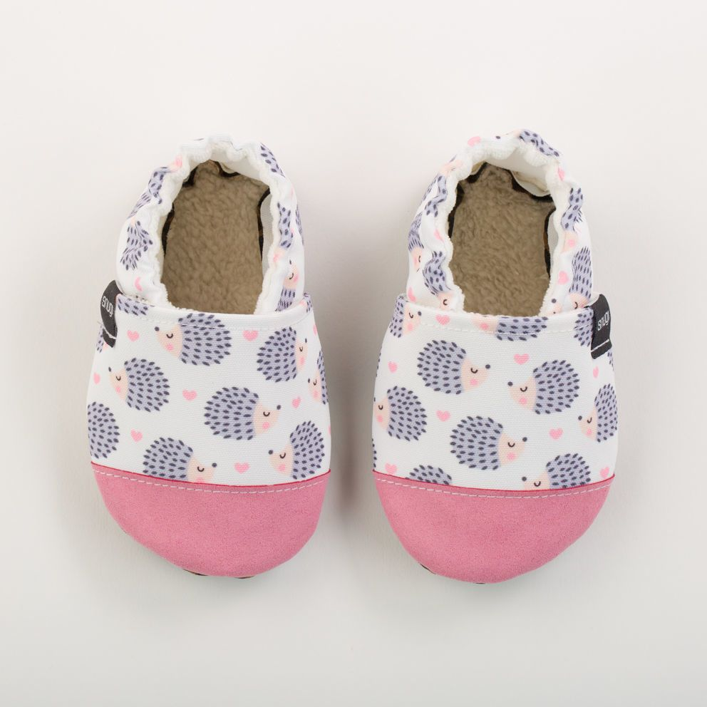 Picture of Slippers - hedgehog white