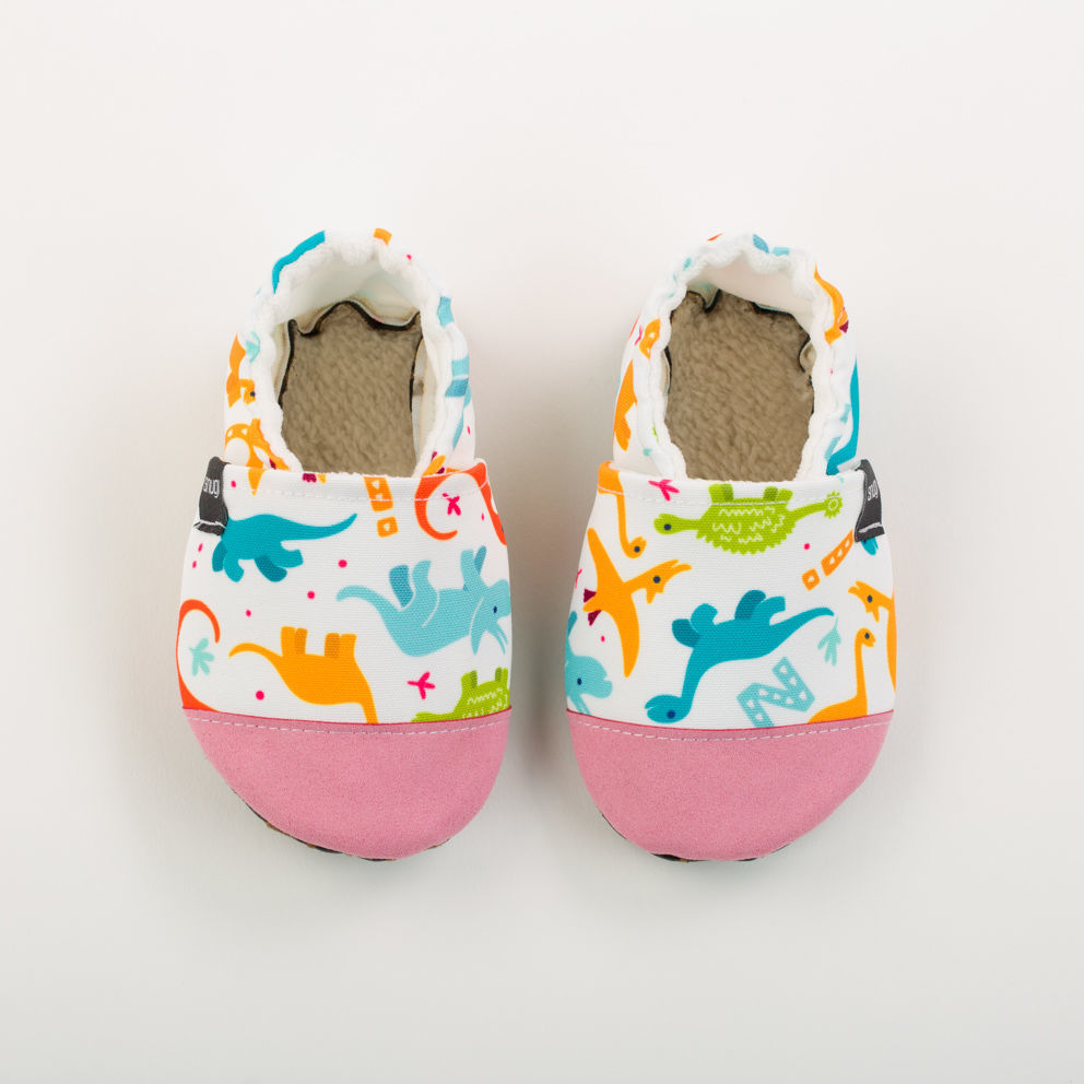 Picture of Slippers - white dino