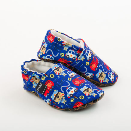 Picture of Slippers - police and fire trucks