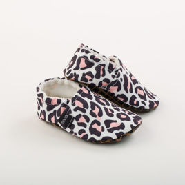 Picture of Slippers - pink leopard