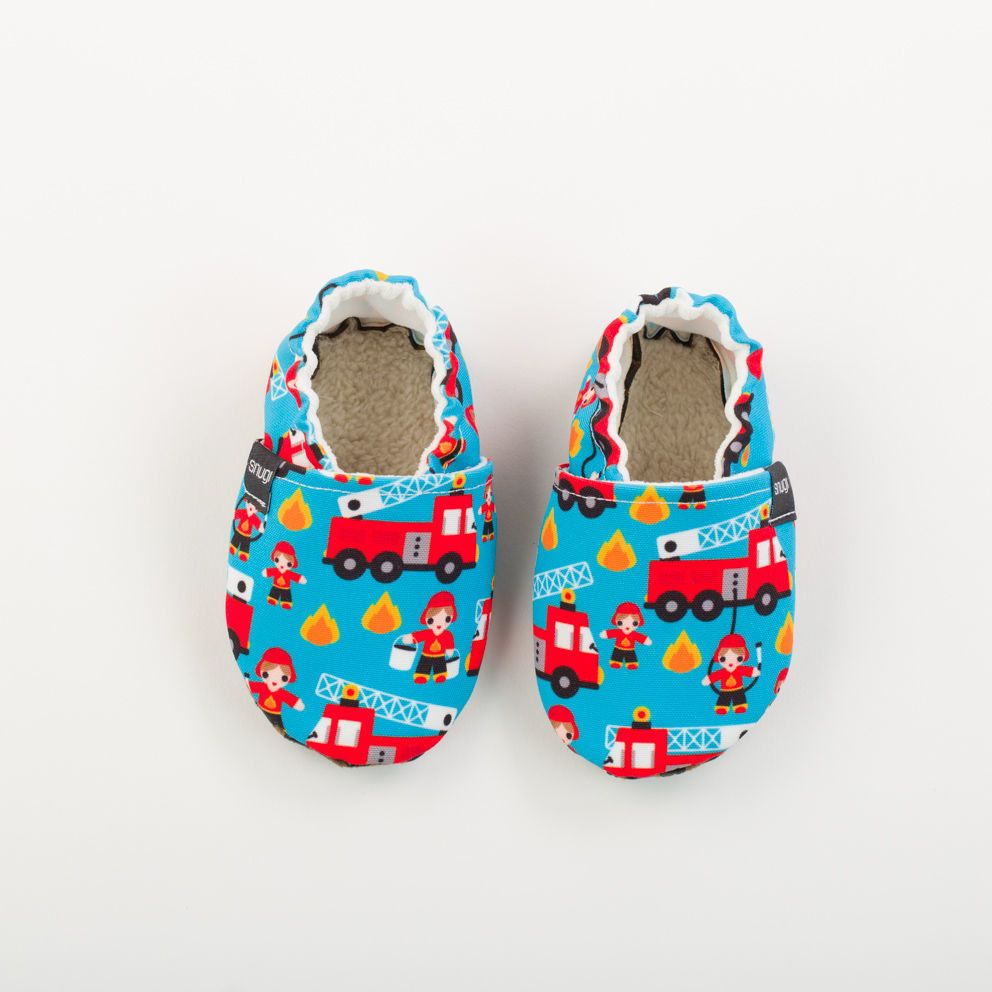 Picture of Slippers - firetrucks