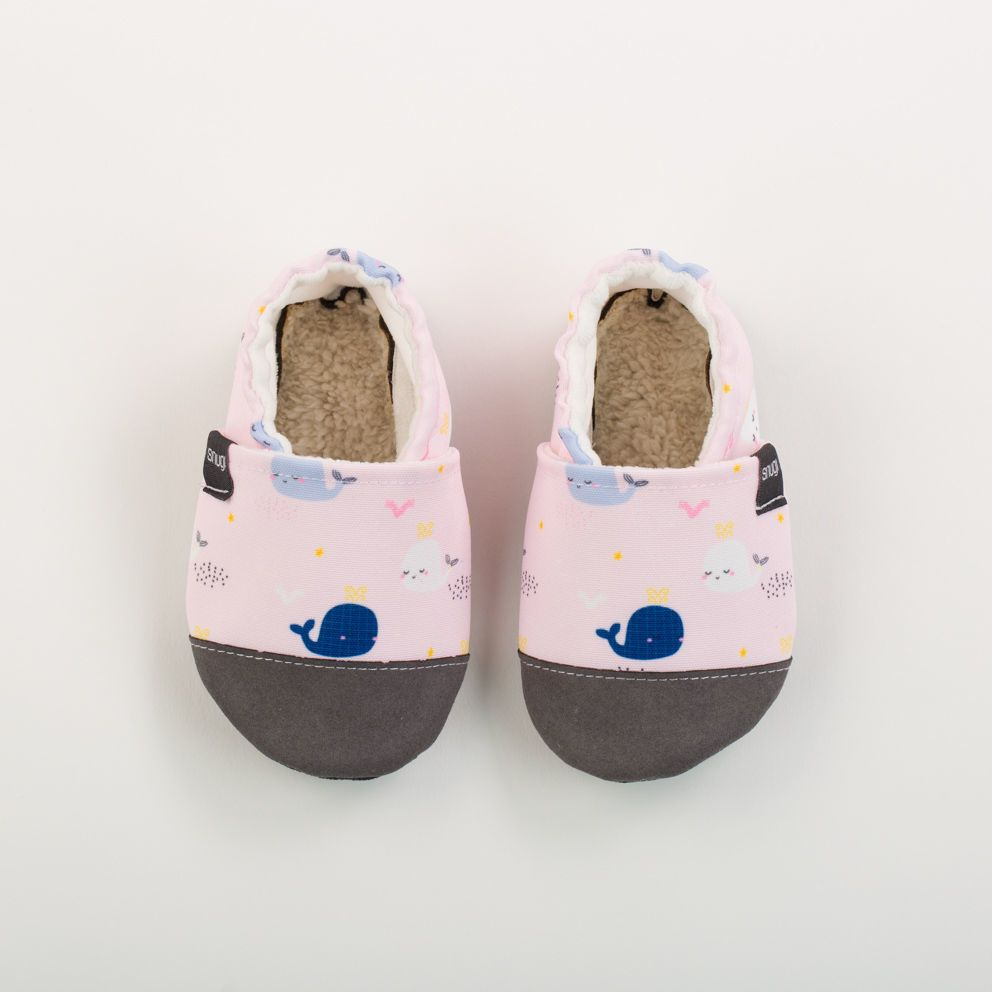 Picture of Slippers - pastel whales