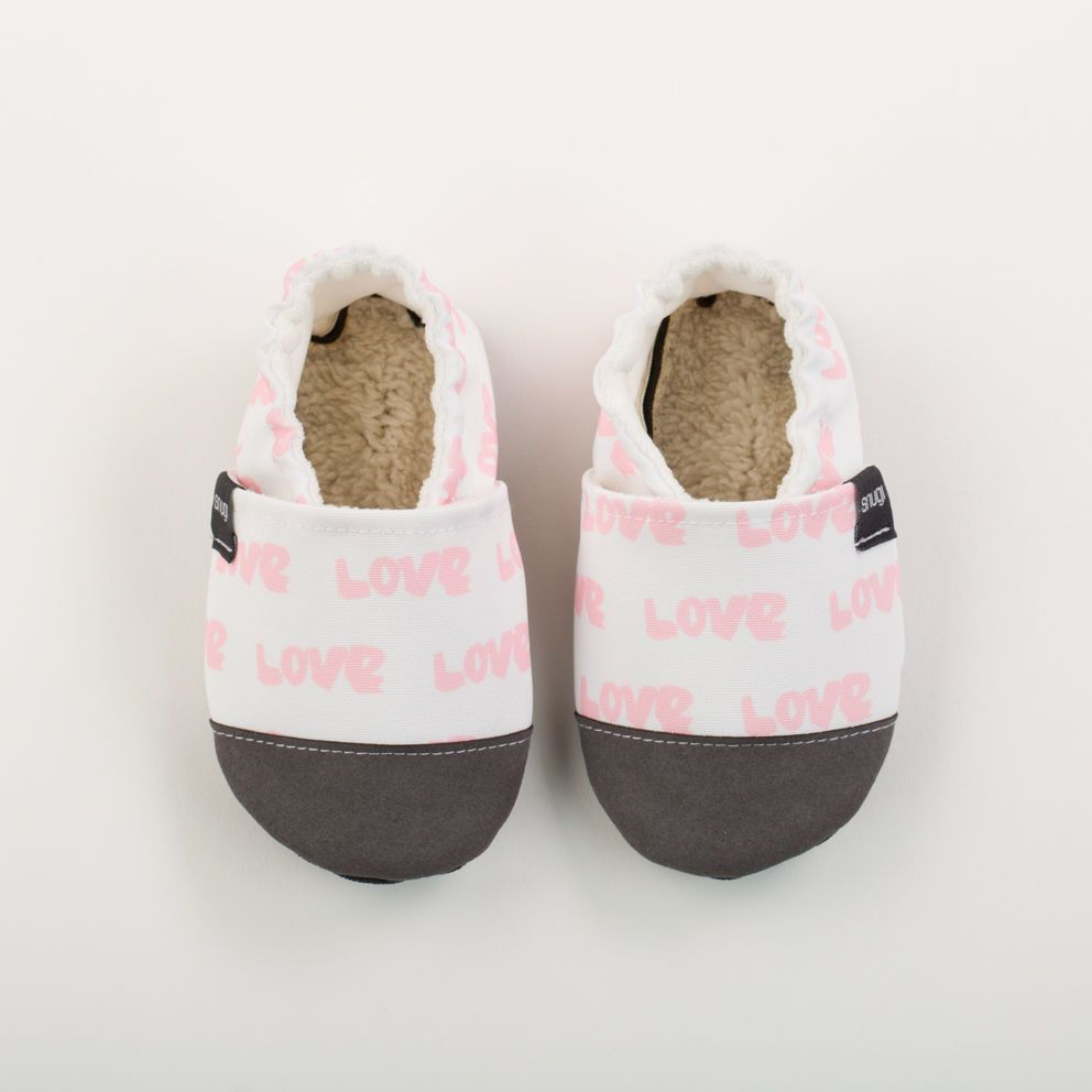 Picture of Slippers - white love