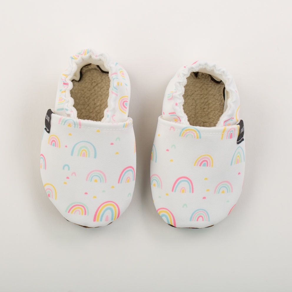 Picture of Slippers - rainbow white