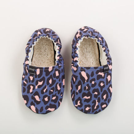 Picture of Kids slippers - leopard blue