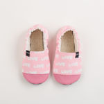 Picture of Kids slippers - pink love