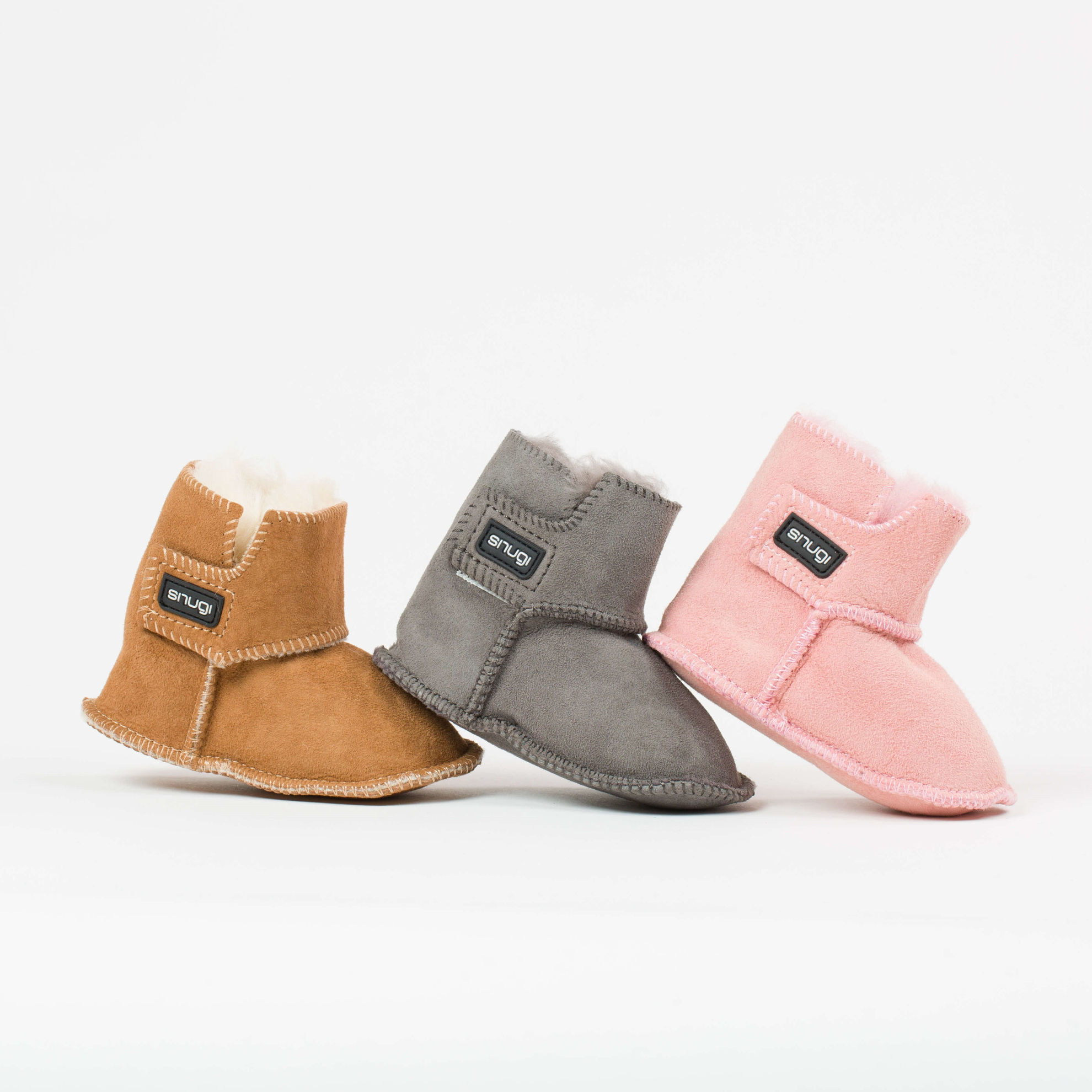 Picture of Merino booties - Pink