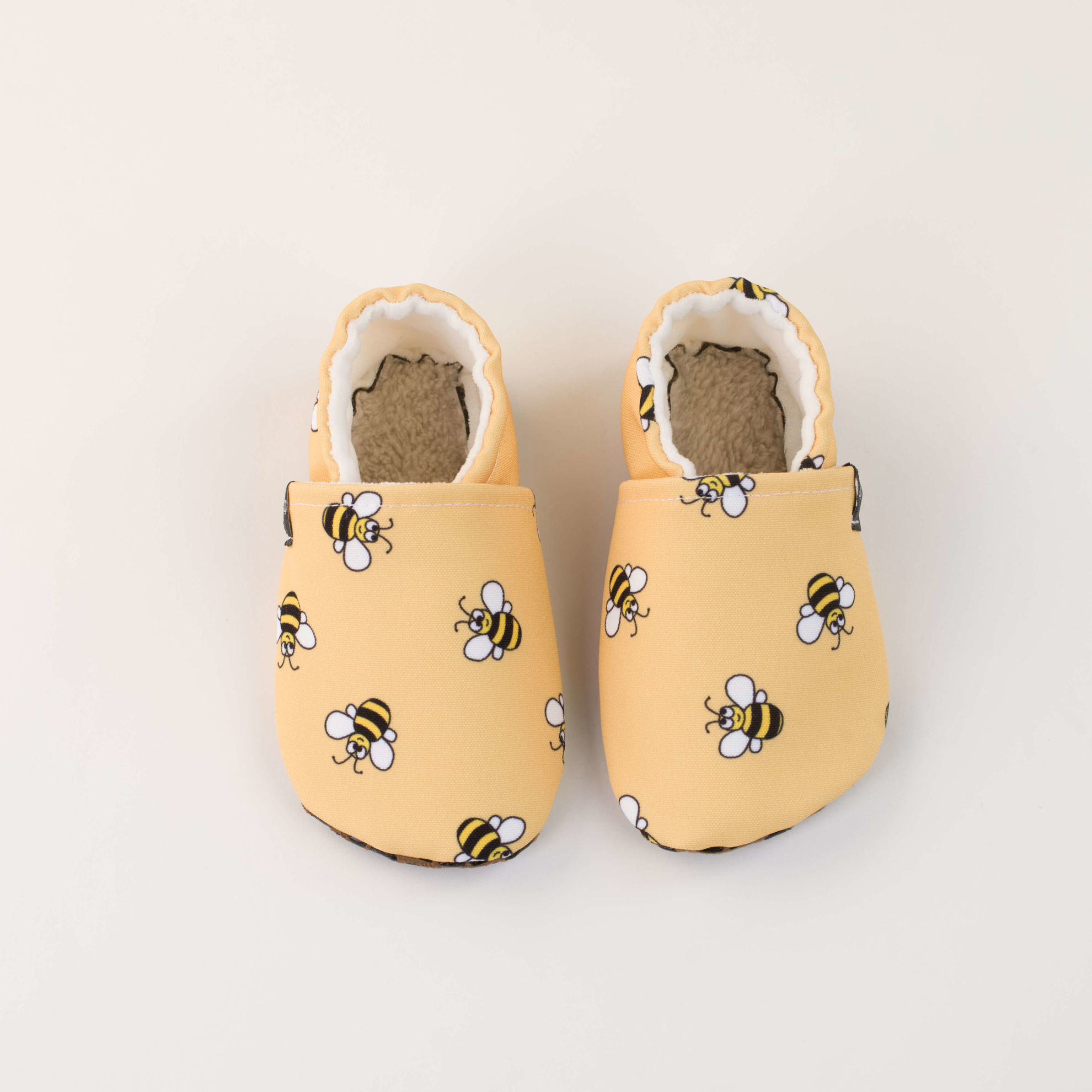 Picture of Slippers -  yellow bee