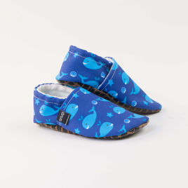 Picture of Slippers - blue sea and whale