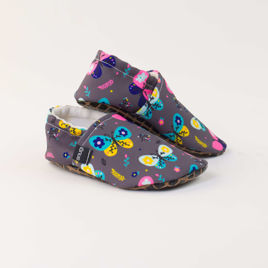Picture of Slippers - grey butterfly