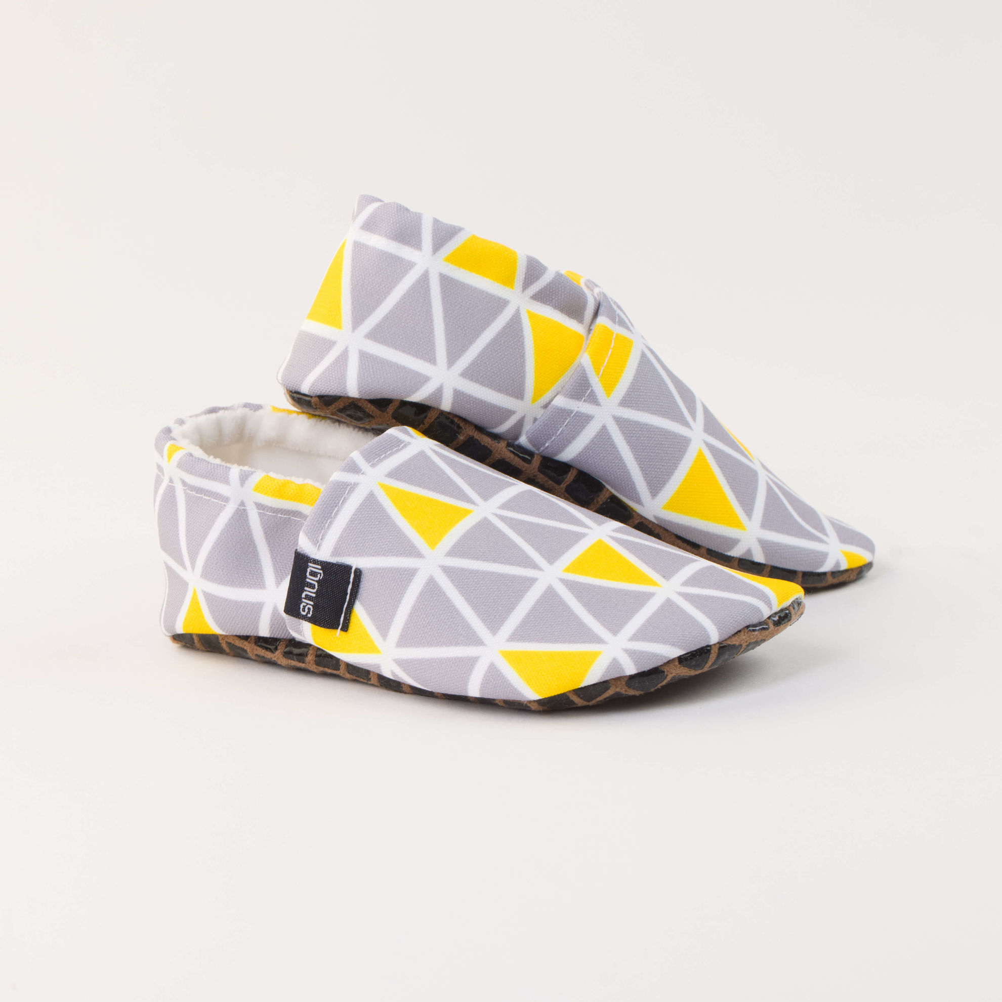Picture of Slippers - grey triangels