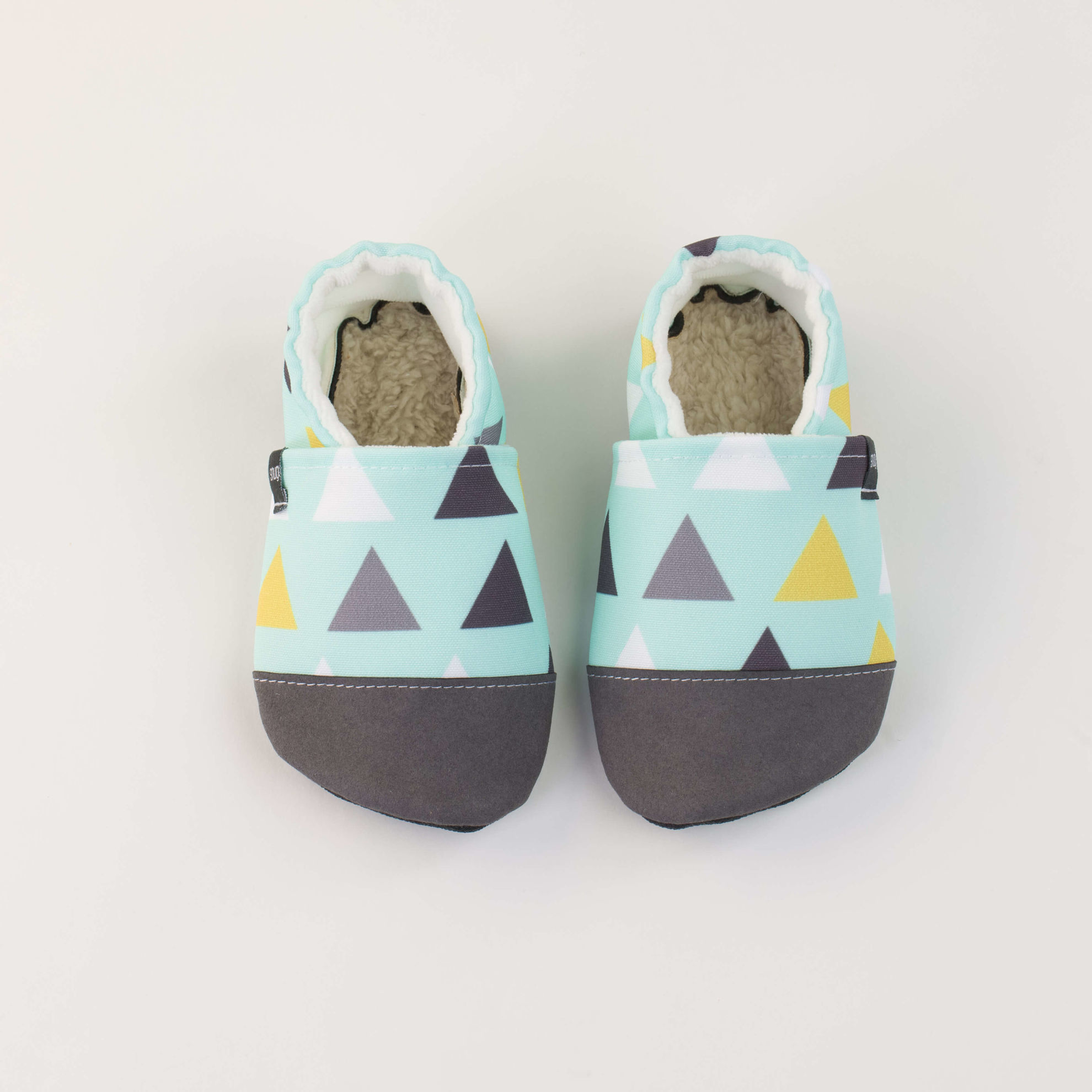 Picture of Slippers - minty triangels