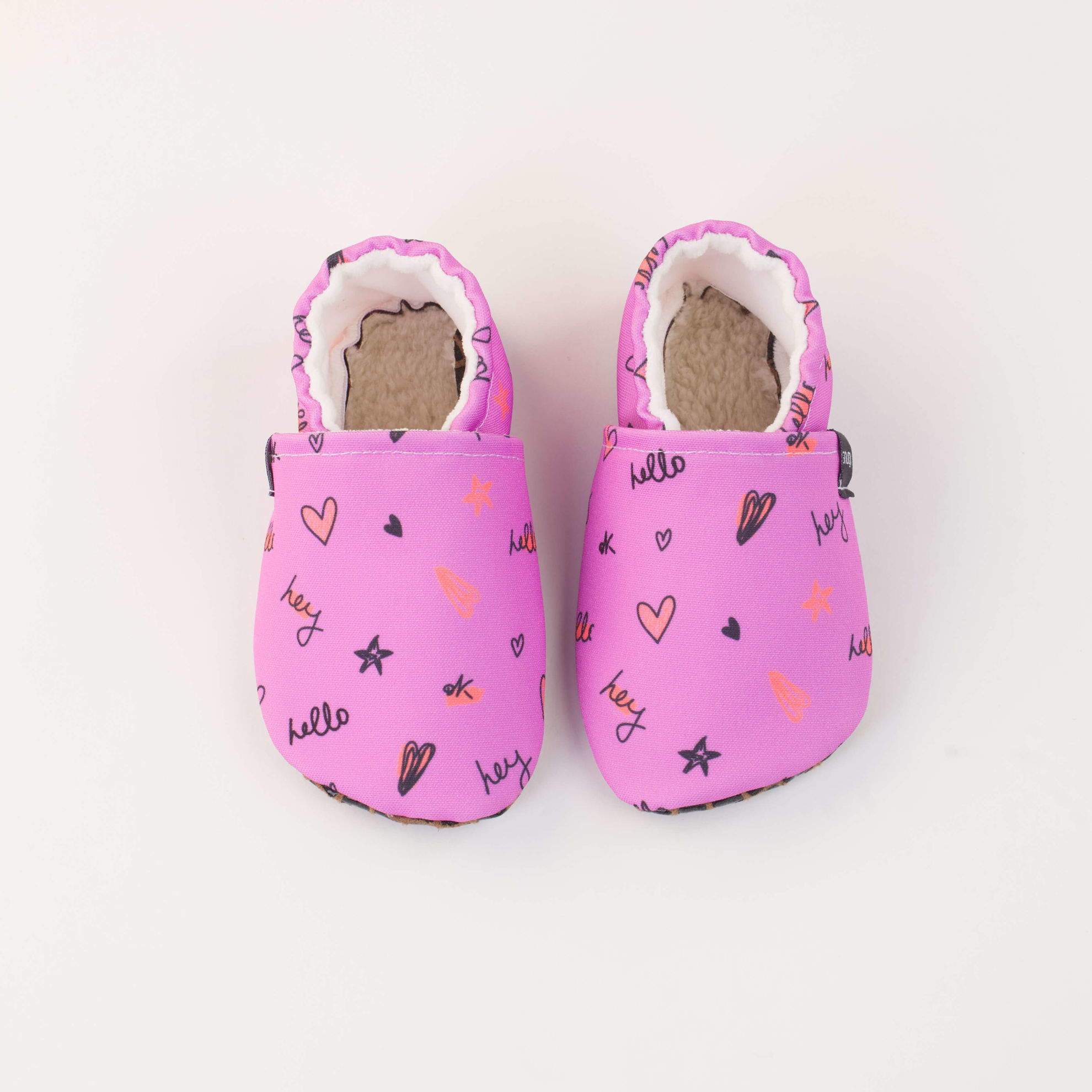 Picture of Slippers - purple hello