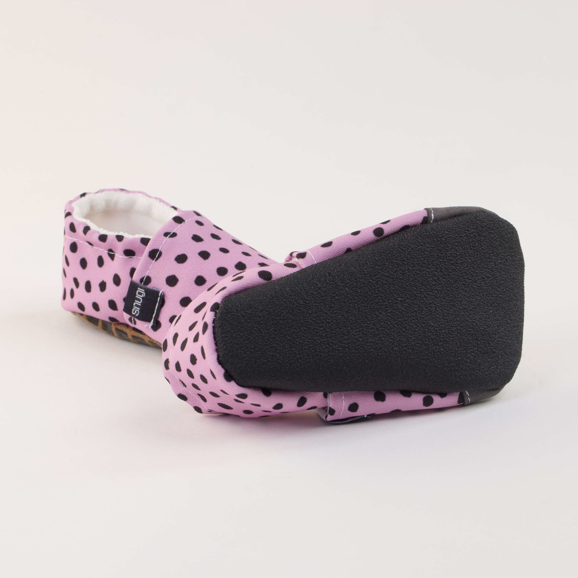Picture of Slippers - dots on purple