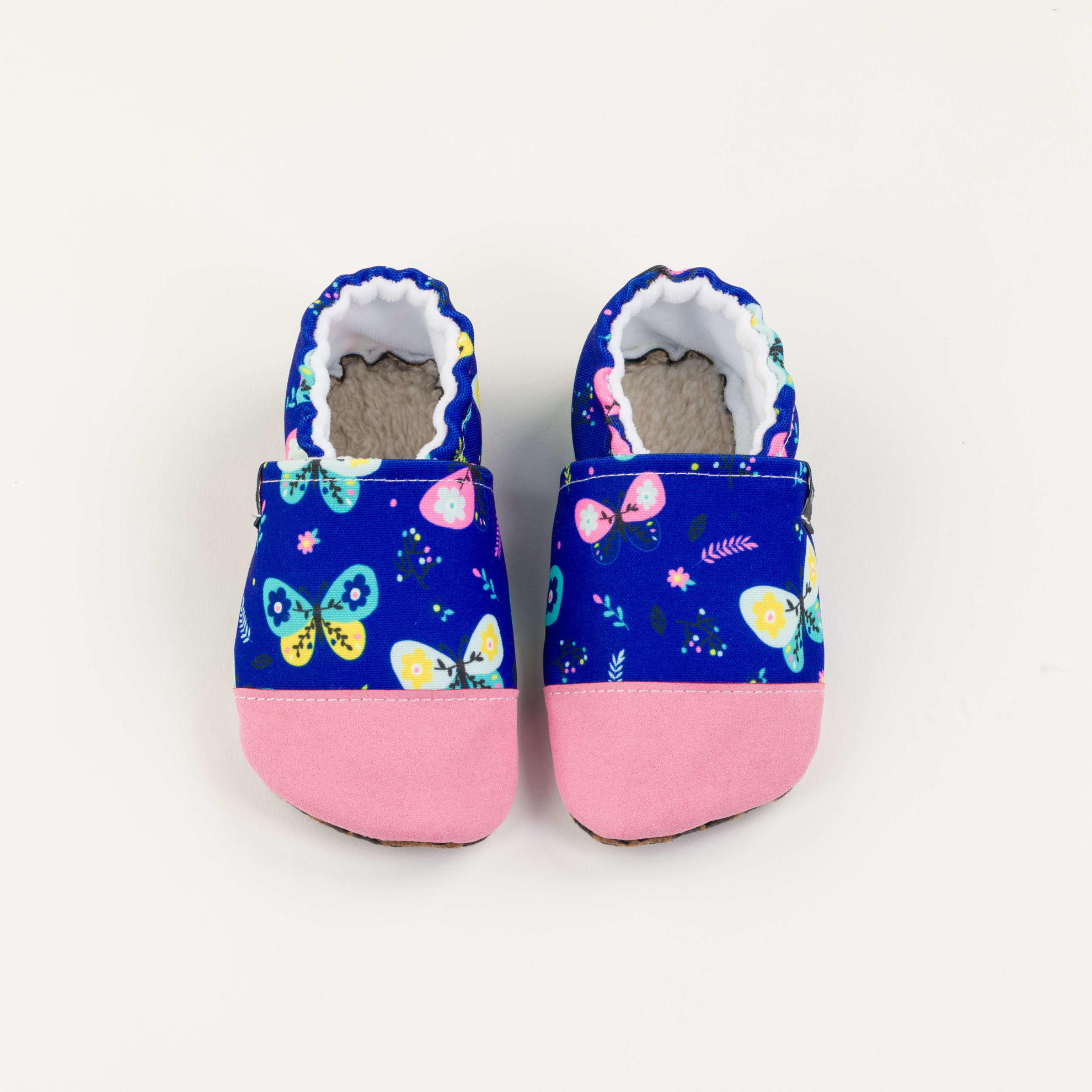 Picture of Slippers - blue butterfly