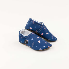 Picture of Slippers - dark blue hello