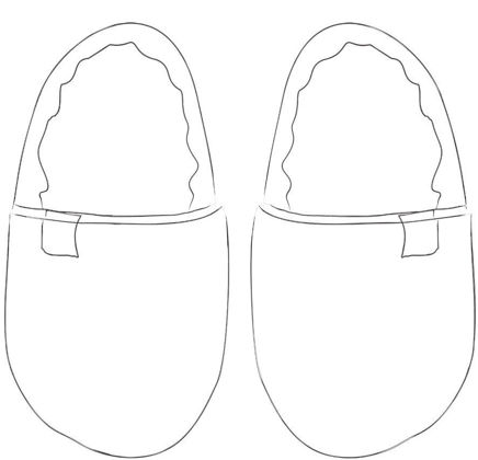 Picture of Lady slippers - choose your pattern